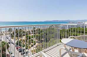 Blick vom Balkon des Hotel Leman